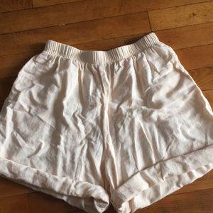 Vintage high rise linen shorts
